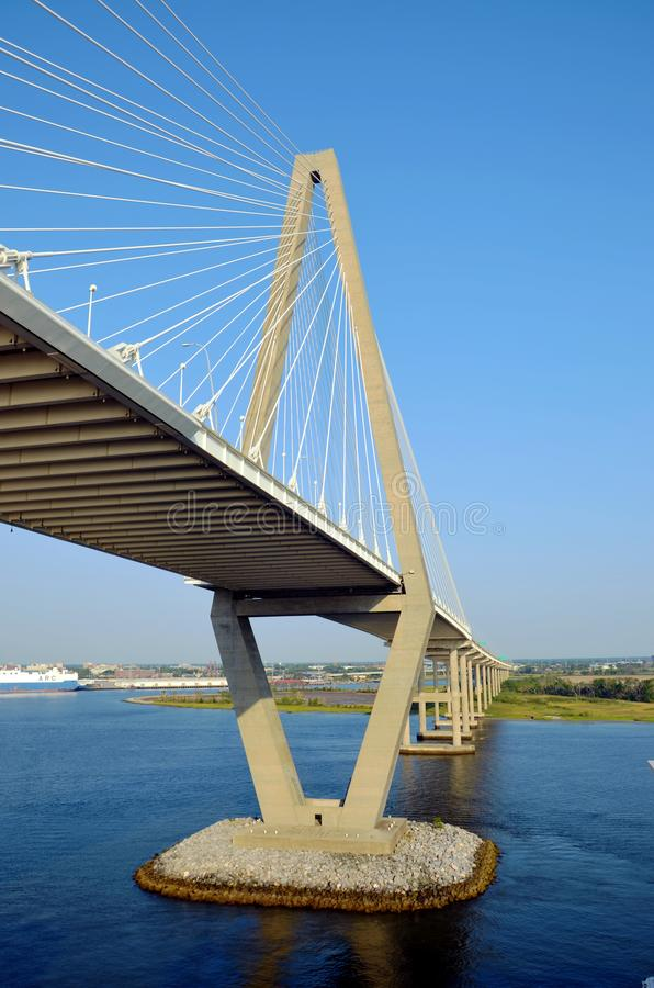 Arthur Ravenel Jr. Bridge in Charleston, South Caroline. stock photography
