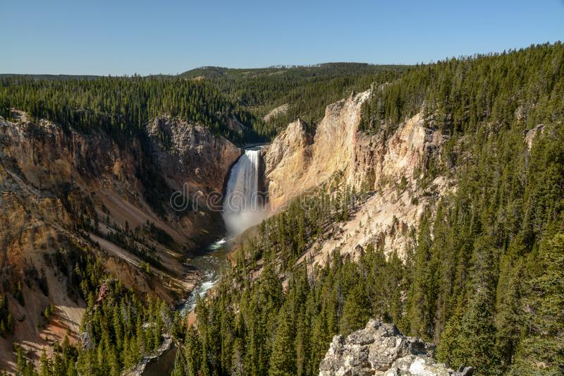 Lower Falls in the Grand Canyon of the Yellowstone royalty free stock images