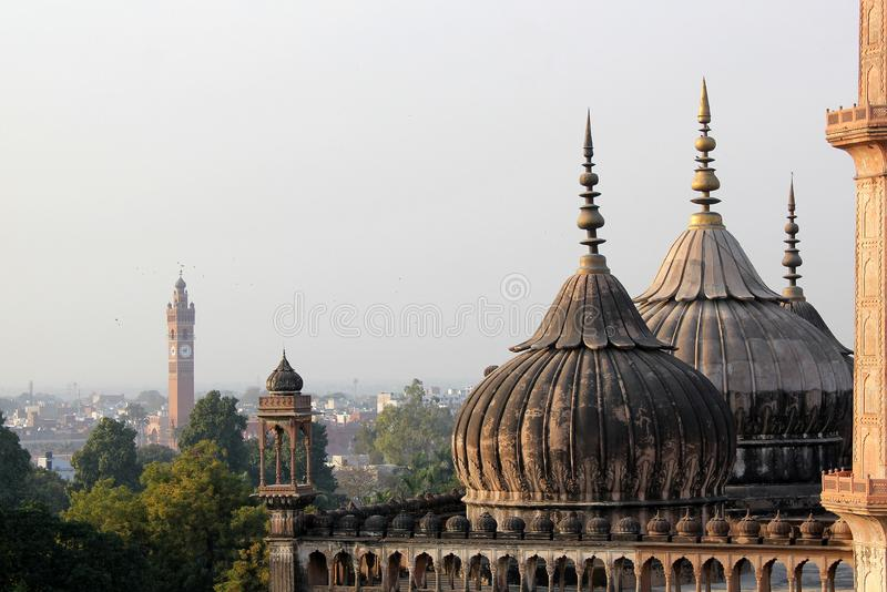 A visit to Lucknow, the city of Nawabs having rich heritage buildings and also contemporary structures royalty free stock image
