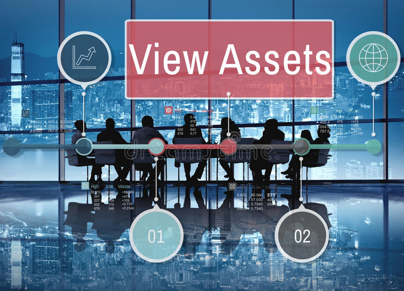 View Assets Savings Investment Value Concept royalty free stock images
