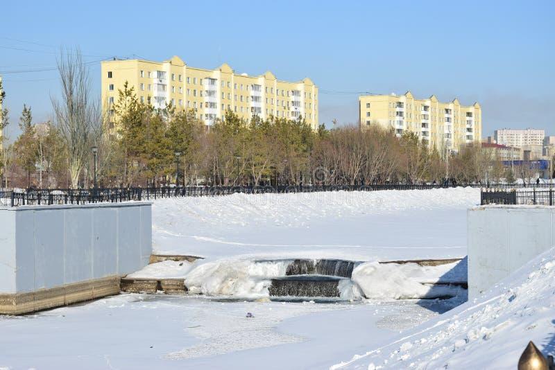 View in Astana in winter. View in Astana, Kazakhstan, in winter stock photos