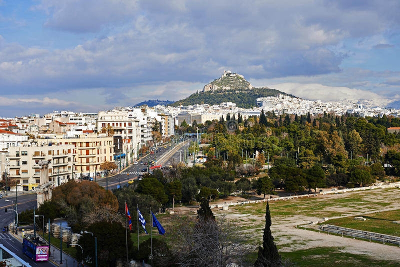 View of Athens in Greece. royalty free stock photo