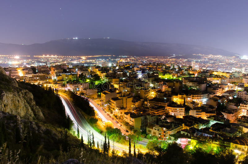 View of Athens! royalty free stock image