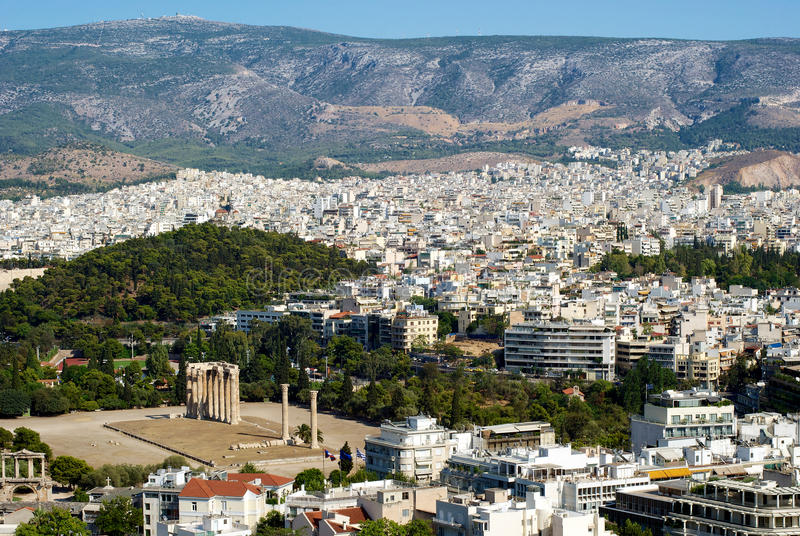 View of Athens royalty free stock photo