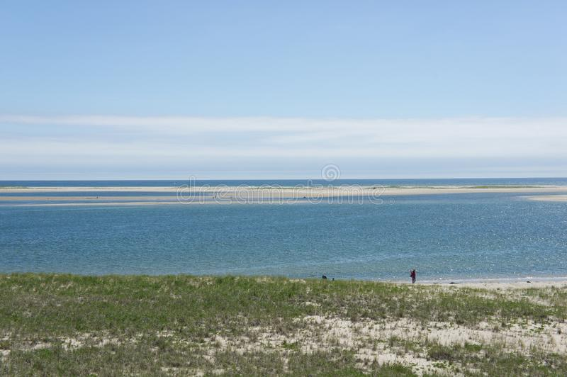 View of the Atlantic in Chatham, Massachusetts. Chatham is located near the `elbow` of Cape Cod and has many wonderful beaches, one of which is seen here during royalty free stock photography