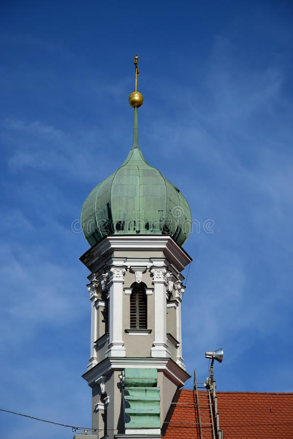 View in Augsburg, Germany. View in Augsburg, region Swabia, Germany royalty free stock image