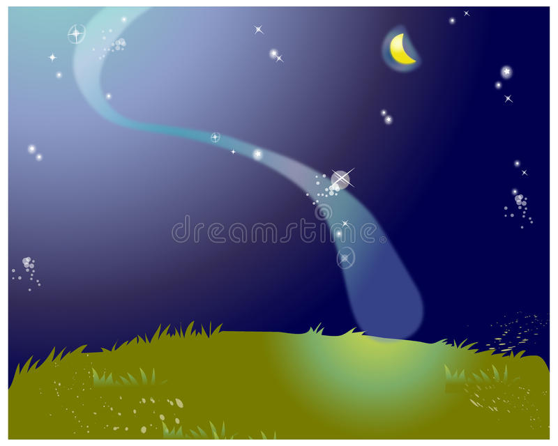 The View Of Aurora Stock Illustration