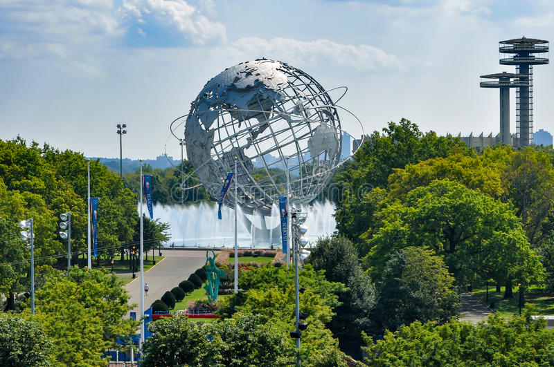 View from Arthur Ashe stadium at Flushing Meadows Corona Park royalty free stock photo