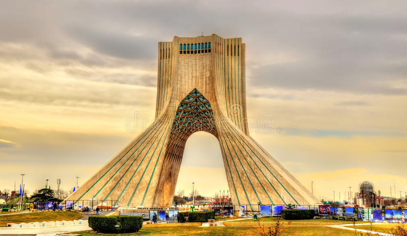 Download View Of The Azadi Tower In Tehran Stock Photo   Image Of  Architecture, Country