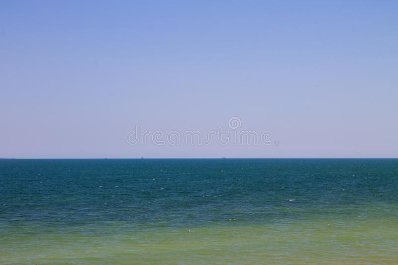 View on the Azov sea. On summer royalty free stock images