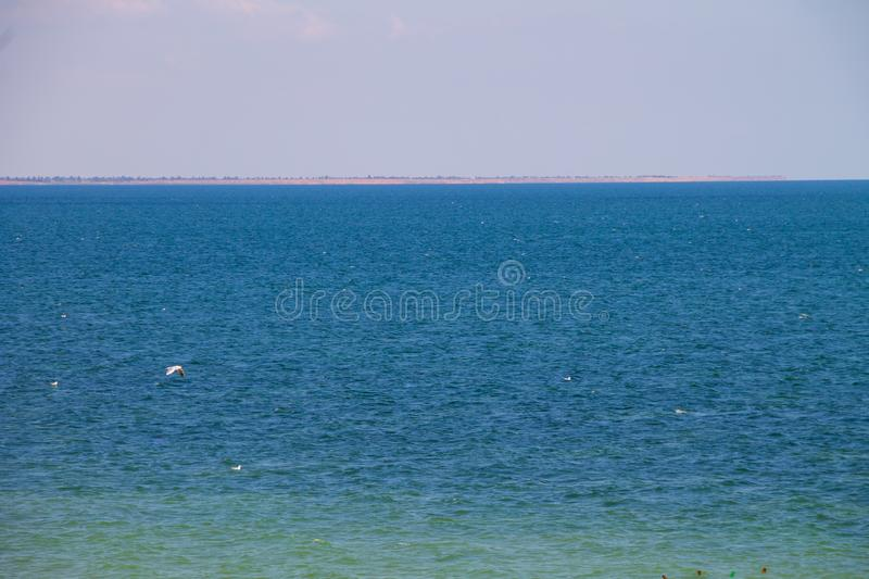 View on the Azov sea. On summer stock photo