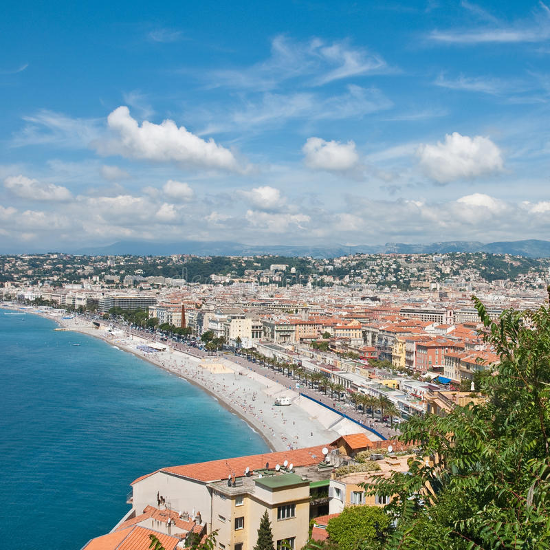 View On Azure Coast In Nice Royalty Free Stock Photo