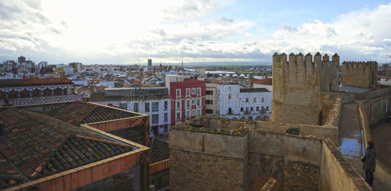 View of Badajoz, Extremadura, Spain royalty free stock images