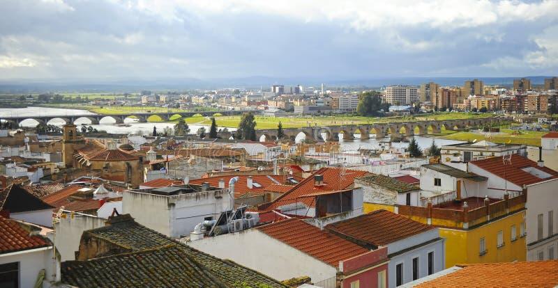 View of Badajoz, Extremadura, Spain royalty free stock photography