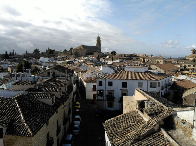 View of Baeza, Spain. Cathedral. stock photos