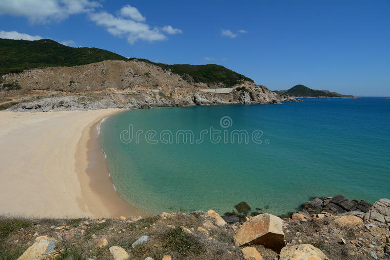View of Bai Mon beach in Dai Lanh, Vietnam.  royalty free stock photo