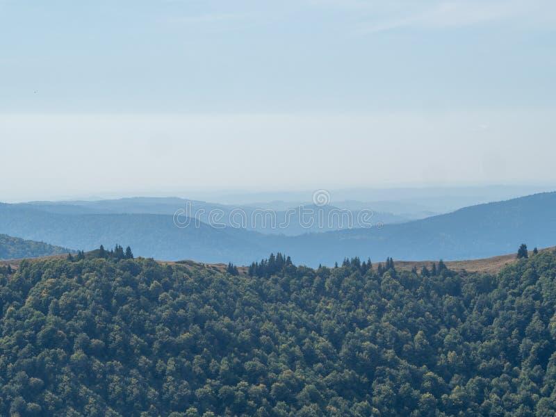 View of the Baiului Mountains, Romania. The Baiu Mountains are mountains in central Romania, a few kilometers south of BraÈ™ov stock photography