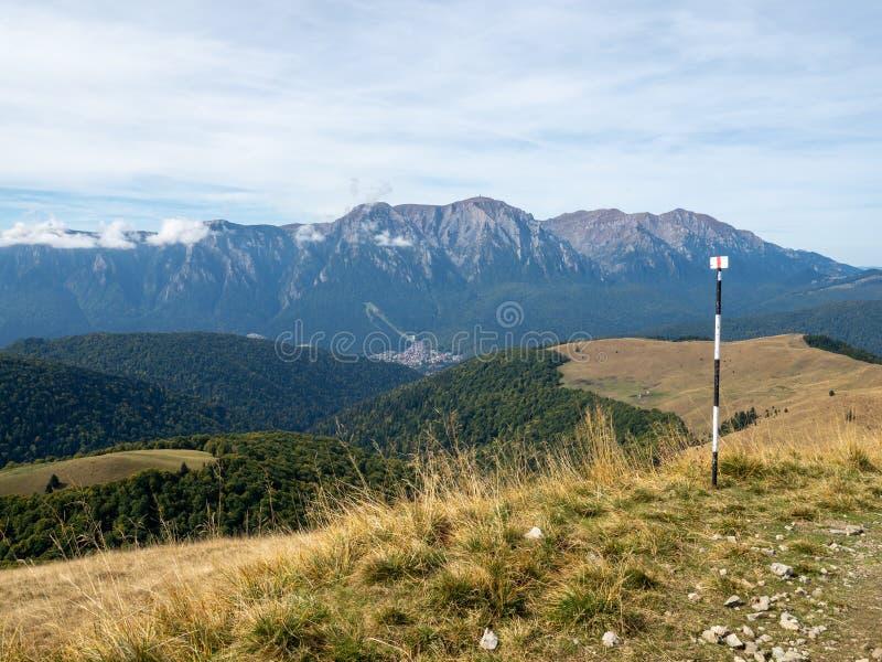 View of the Baiului Mountains, Romania. The Baiu Mountains are mountains in central Romania, a few kilometers south of BraÈ™ov royalty free stock images