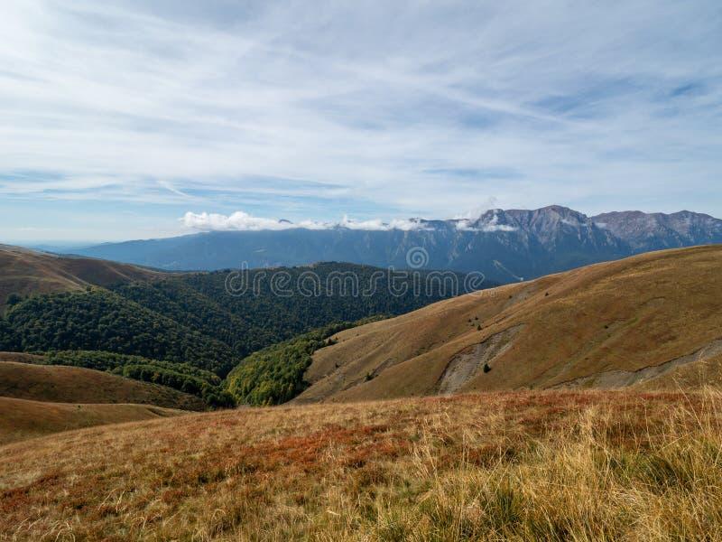 View of the Baiului Mountains, Romania. The Baiu Mountains are mountains in central Romania, a few kilometers south of BraÈ™ov royalty free stock photos