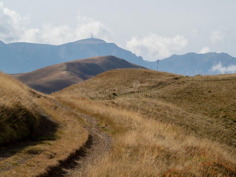 View of the Baiului Mountains, Romania. The Baiu Mountains are mountains in central Romania, a few kilometers south of BraÈ™ov royalty free stock image