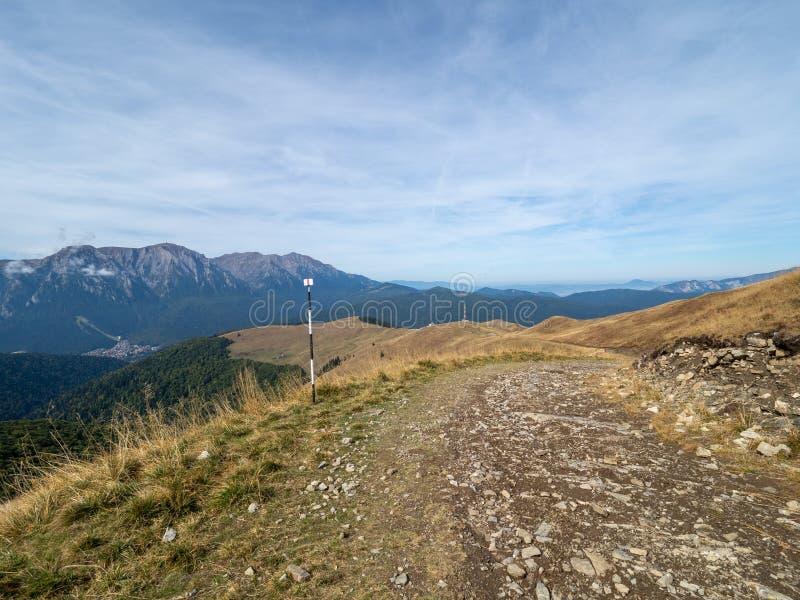 View of the Baiului Mountains, Romania. The Baiu Mountains are mountains in central Romania, a few kilometers south of BraÈ™ov stock photos