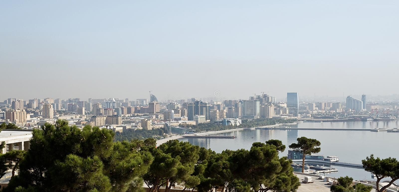 Download View of Baku stock image. Image of panoramic, urban, azerbaijan - 27109033