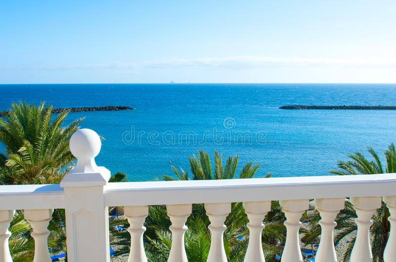the view from the balcony stock photography