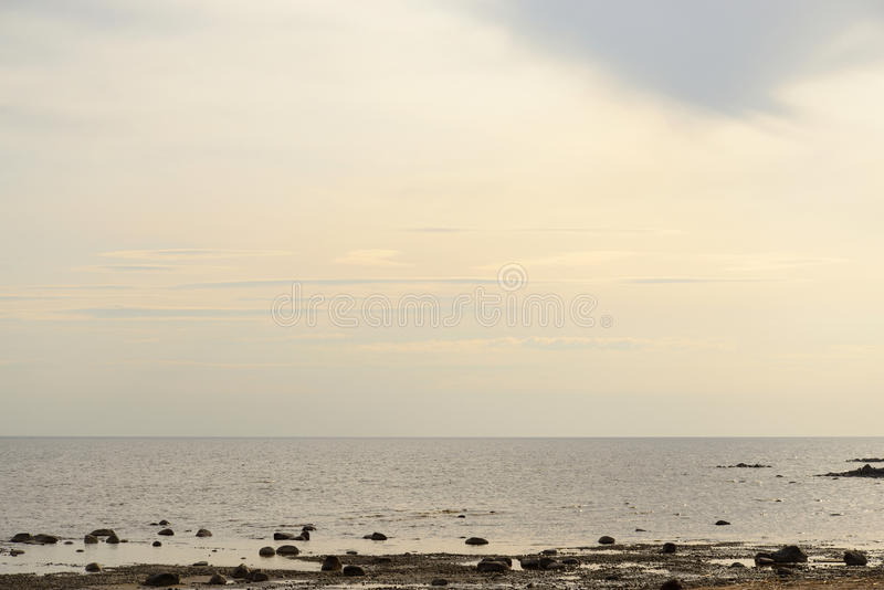 View of Baltic Sea. View of Baltic Sea at cloud sunset stock photography