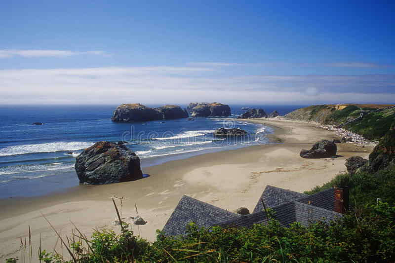 View of Bandon beach stock image