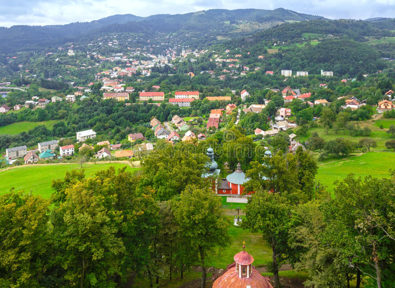 View on Banska Stiavnica (Slovakia) royalty free stock photos