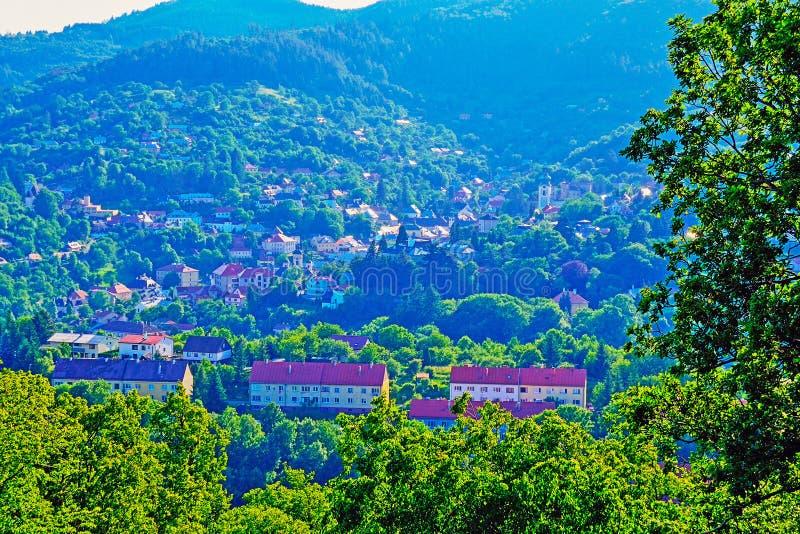 View of Banska Stiavnica, Slovakia royalty free stock photography