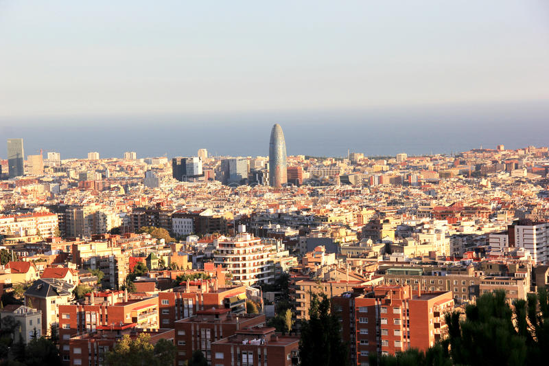 Barcelona Vista royalty free stock photography