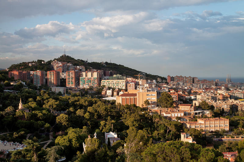 Download View on Barcelona hills stock image. Image of mountain - 21087669