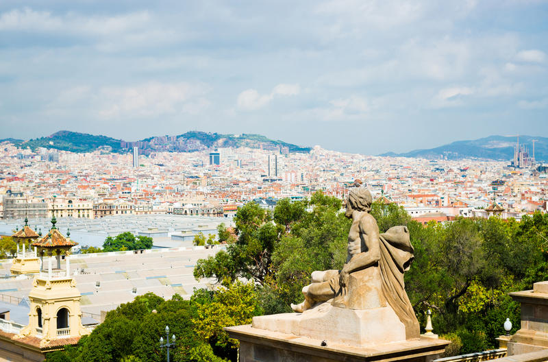 Download View Of Barcelona From  National Palace Stock Photo - Image: 29021994
