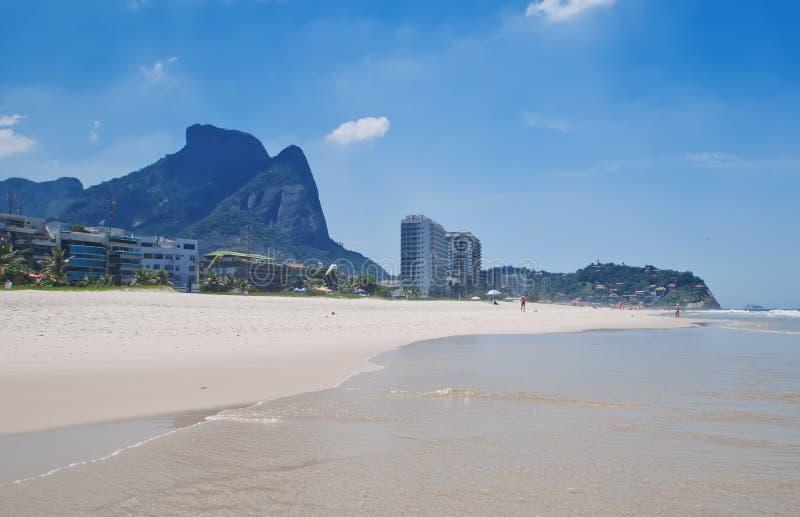 View of Barra da Tijuca beach in Rio de Janeiro stock image