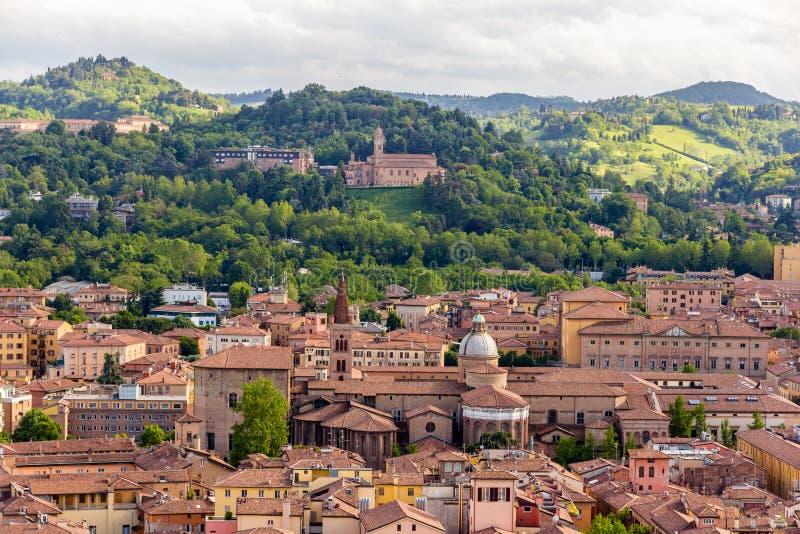 View of Basilica di San Domenico in Bologna, Italy royalty free stock photography