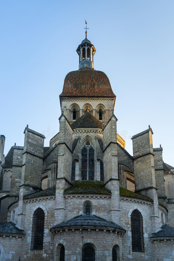 Basilica Notre Dame - Beaune, France. View of Basilica Notre Dame - Beaune, France royalty free stock photo