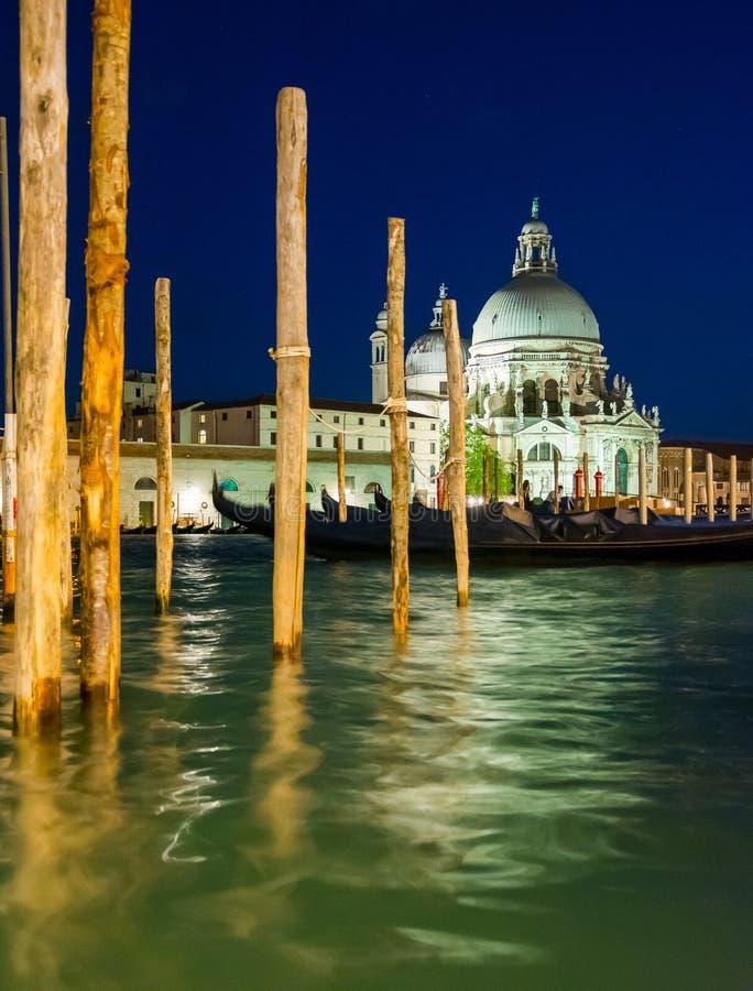 View of the Basilica of Santa Maria della Salute in the Dorsoduro District in Venice, Italy. View of the Basilica of Santa Maria della Salute in the Venice royalty free stock image