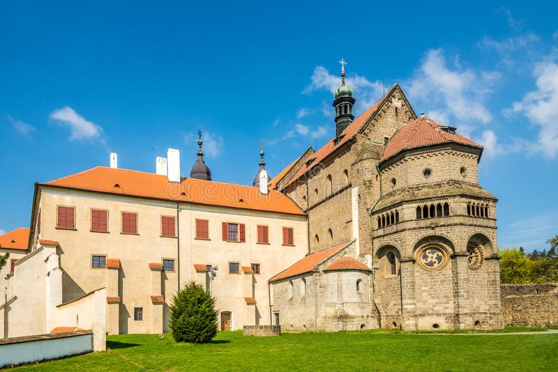 View at the Basilica of St.Procopius in Trebic - Moravia,Czech republic. View at the Basilica of St.Procopius in Trebic - Czech republic, Moravia royalty free stock image