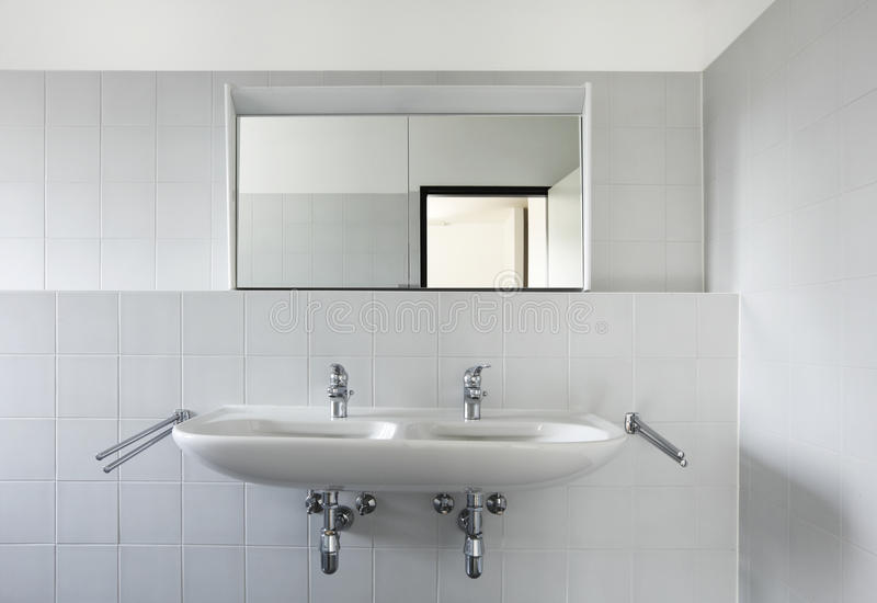 Download View Of Bathroom Sink And Mirror Stock Photo - Image of blank, sink: 19650770