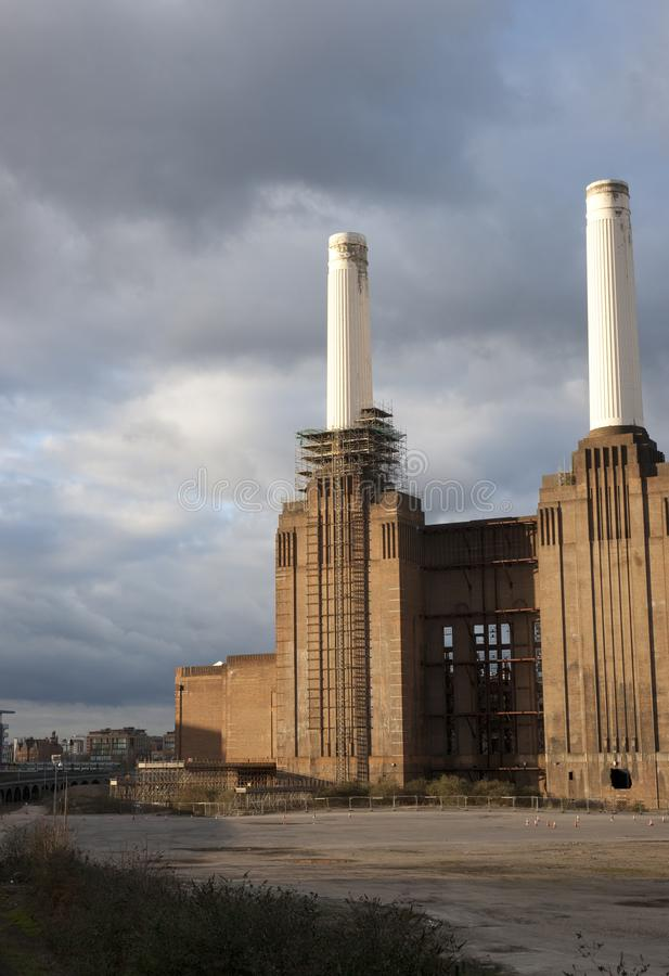 View of Battersea Power Station before major redevelopment, Battersea, London, UK - March 2013. A View of Battersea Power Station before major redevelopment stock photography