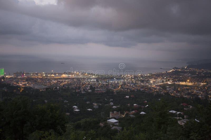 View on Batumi, Georgia. View on Batumi at Twilight royalty free stock photos