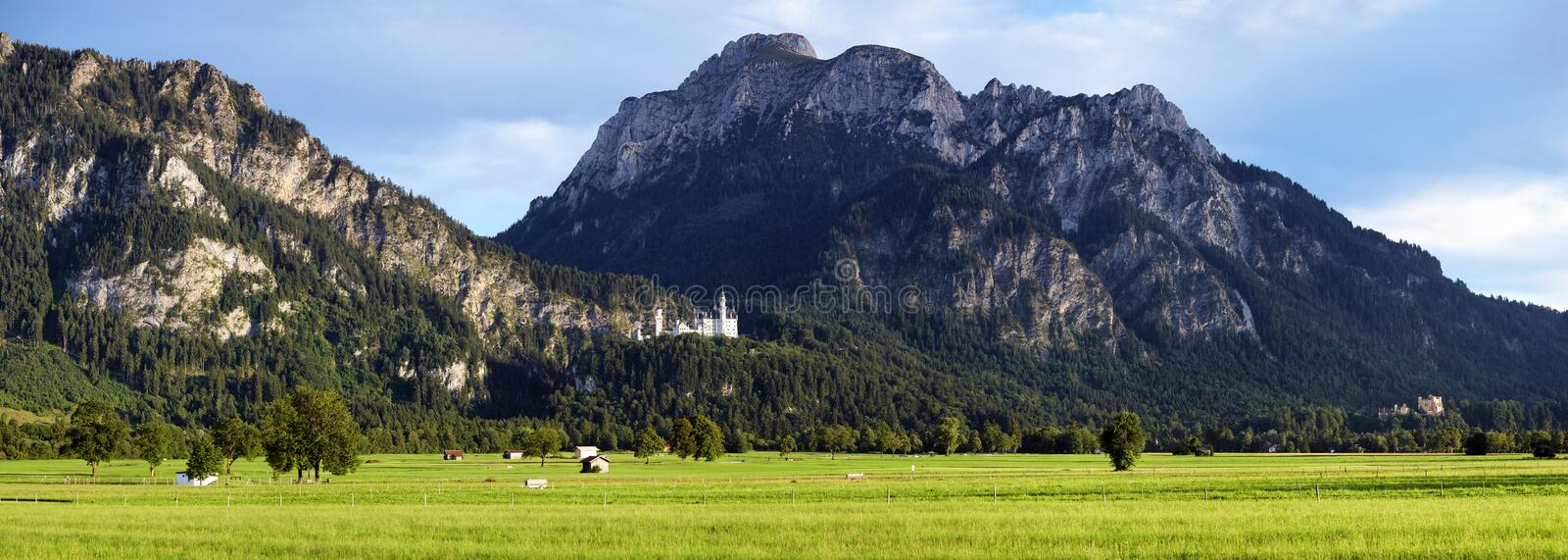 Download View Of Bavarian Alps With Neuschwanstein Castle Stock Image - Image: 21035241