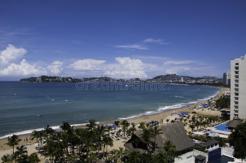 View of the bay of Acapulco stock image