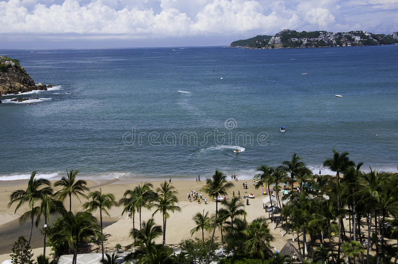View of the bay of Acapulco stock images