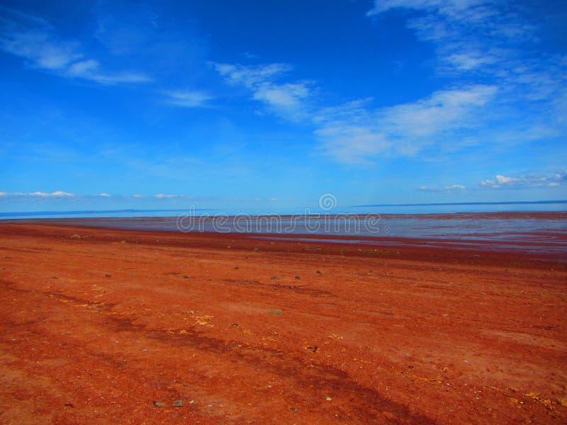 Bay of fundy Houston`s beach Nova Scotia stock photography