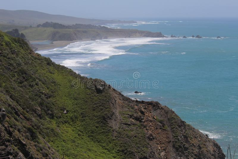 View of Bay from Roadside at Ragged Point royalty free stock photos