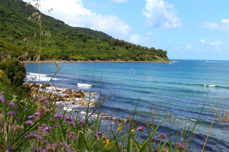 Bay of trentova, agropoli, salerno stock image