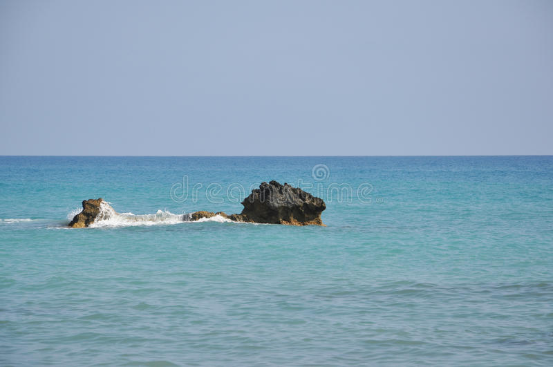 View from the beach of Aphrodite royalty free stock photos