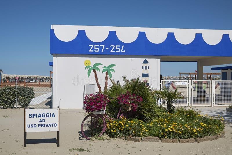 View of a beach club stock photo